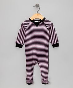Take a look at this Pink Stripe Little Star Organic Footie by Kushies on #zulily today!