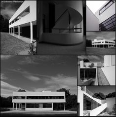 Le Corbusier - Villa Savoye.  Villa Savoye is a modernist villa in Poissy, in the outskirts of Paris, France. It was designed by Swiss architects Le Corbusier and his cousin, Pierre Jeanneret, and built between 1928 and 1931 using reinforced concrete. — in Poissy, France.