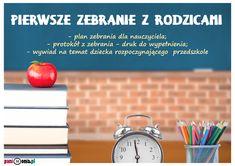 Zebranie z rodzicami - plan, dokumenty, porady - Pani Monia Alarm Clock, Teacher, Education, Internet, School, Projection Alarm Clock, Professor, Teachers, Alarm Clocks