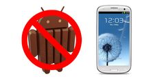 No kitkat for samsung galaxy s3 and galaxy s3 mini