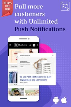 Customer engagement is the key to getting more conversions and reduced cart abandonment. Send unlimited Push Notifications to your customers and enhance your online sales. Mobile App Builder, Notification App, Creative Design, Ux Design, Me App, Customer Engagement, Online Business, Online Sales, Cart