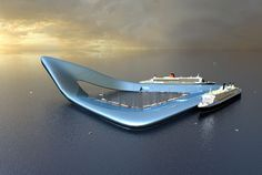 Pictures: Floating Cities of the Future Floating Cruise Ship Terminal