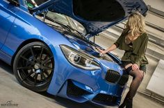 Motor compartment. BMW F20 M135i Estoril Blue