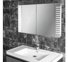 platinum two door led bathroom demister cabinet