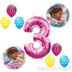 Girls Zebra Themed Birthday Party | Birthday Doc McStuffins Balloons Girls Party Supplies Hot Pink Zebra ...