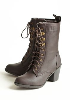 Wonderland Gal Lace-up Boots 46.99 at shopruche.com. Make the most of cold winter days