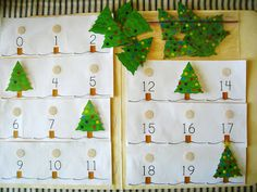four little munchkins: December File Folder Game-Counting Christmas Trees Preschool Christmas, Christmas Activities, Christmas Themes, Preschool Activities, Christmas Crafts, File Folder Activities, File Folder Games, Theme Noel, Winter Theme