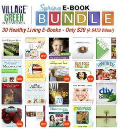 AMAZING E-BOOK SALE! Get 30 Healthy Living E-Books for 90% off!!