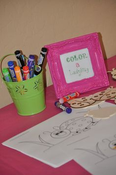 "Photo 11 of 35: Pink & green Ladybugs / Birthday ""Keira's 2nd Pink Ladybug birthday party!"" | Catch My Party"
