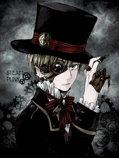 Tags: Anime, Aohara, Axis Powers: Hetalia, United Kingdom, One Eye Showing, Top Hat, European Clothes