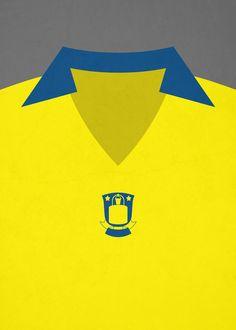 Minimalistic retro football shirt, Brøndby IF
