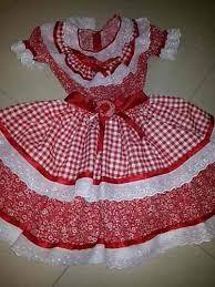 Resultado de imagem para vestidos de caipira infantil