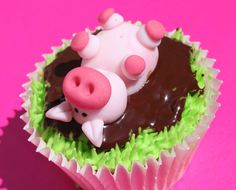 happier than a pig in a muddy cupcake  http://www.victorias-kitchen.com/cake-gallery/?nggpage=2=128