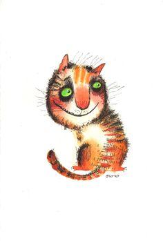 The Looking Back Cat by Nastya Ozozo (Nastassia Atrakhovich)
