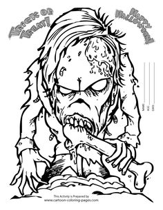 Scary Coloring Pages For Adults | Coloring Pages of Halloween