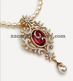 Jewellery Designs: Simple Diamond Locket for All Costumes