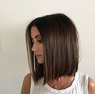 Long blunt bob lob @domdomhair