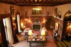 Reception rooms at Kincardine Castle, Aberdeenshire