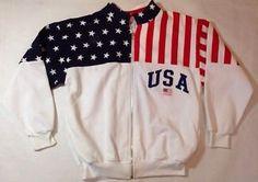 Vintage ESY Sport Wear Olympic Jacket Sweatshirt Made In USA Medium