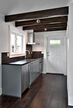 400 Sq. Ft. Small Cottage by Smallworks Studios Photo: would make a great small seasonal house! I think I'd make a deeper-itched roof so that you could have a loft space above the bathroom for storage or an extra bed.