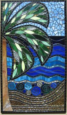 PalmBeach mosaic by Glenys Fentiman