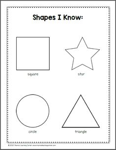 shapes recognition practice worksheet...trace triangles