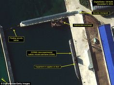 """#DailyMailUK .... """"The GORAE-class submarine and test barge are pictured docked in the secure boat basin at North Korea's Sinpo South Shipyard."""".... http://www.dailymail.co.uk/news/article-4052346/Experts-claim-satellite-images-reveal-North-Korea-unleash-long-range-Soviet-inspired-nuclear-submarine-world.html"""