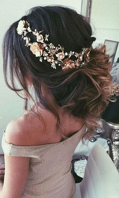 Wedding Hairstyles And#8211; Romantic Bridal Updos ❤️ See more: http://www.weddingforward.com/romantic-bridal-updos-wedding-hairstyles/ #weddings    Le Jardin Weddings | Utah Wedding & Reception Venue | Wedding Hair and Makeup Ideas