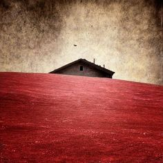 #house #red #landscape