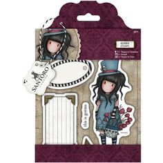 Docrafts LARGE Urban rubber stamp set of 6 Gorjuss Postal Collection AWASHED
