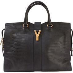 d4b3ce92996b Black relief leather bag YVES SAINT LAURENT Black