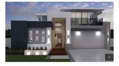 Modern House Facades, Modern House Plans, Modern House Design, Modern Architecture, 2 Storey House Design, Duplex Design, Building Exterior, Building Design, Building A House