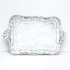 Step-by-step tutorial how to make a shabby chic tray...think this could be a good use of the old silver trays you always find at the thrift store.