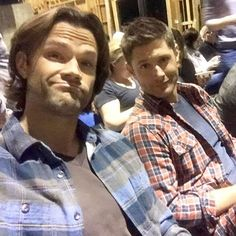 Jared and Jensen watching the season 12 premiere