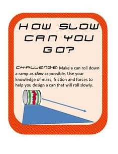 Creating Friction Force Activity/ Experiment- Slow Can Race