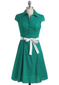 Hepcat Dress in Clover | Mod Retro Vintage Dresses | ModCloth.com ($49.99 at Modcloth.com)