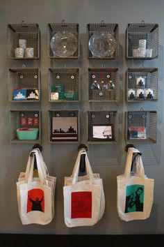 Reusable shopping bag storage
