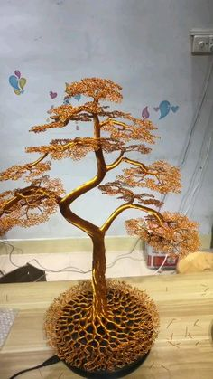 Smaller ideas DIY bonsai How to choose contemporary Rattan weather proof Garden Furnitu Diy Crafts Hacks, Diy Home Crafts, Diy Arts And Crafts, Creative Crafts, Wire Art Sculpture, Tree Sculpture, Sculptures Sur Fil, Copper Wire Art, Wire Jewelry Designs