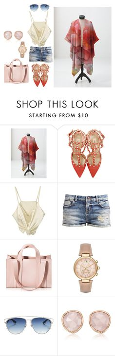"""Stay cool in a sheer wrap scarf this summer"" by catsmeow ❤ liked on Polyvore featuring Valentino, Corto Moltedo, Michael Kors, Christian Dior and Monica Vinader"