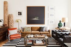 Exceptionnel Masculine Living Room With Black And White Rug. Find This Pin And More On Nate  Berkus Interiors By Baiyina Hughley Interior Design.