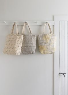 Puffy Tote in Nani Iro's Quilted Double Gauze | Purl Soho - Create