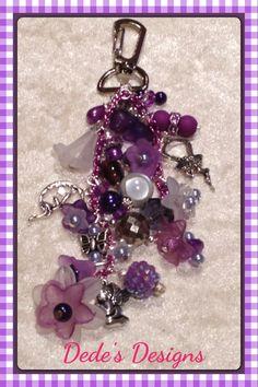Purple hand bag charm  £6.00