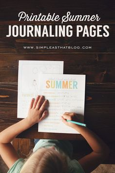 Printable Summer Journaling Pages for kids this summer. Keep your kids writing with these fun summer journaling pages. Free printable.
