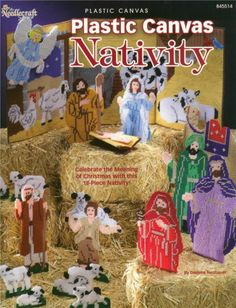 Plastic Canvas Christmas NATIVITY Plastic Canvas Pattern Book ~ NEW