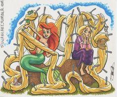 Ariel  and Rapunzel
