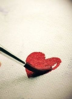 • ♥ •  painted heart