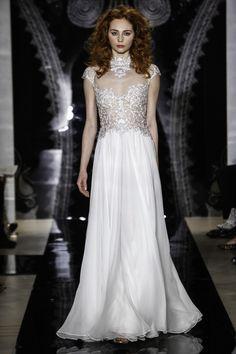 Reem Acra wedding dress - embroidery details