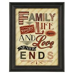 Family Definition Framed Wall Plaque