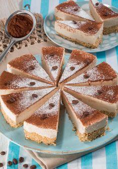 Cheesecake al caffè e mascarpone Ricotta, Cheesecake Mix, Cheesecakes, Gelato, Tiramisu, Yogurt, Fondant, Cake Recipes, Food And Drink