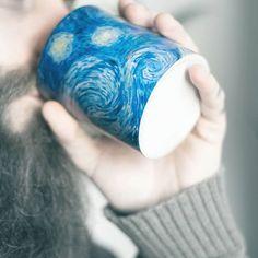 Mug starry night - Taza noche estrellada Vincent Van Gogh - Kessler Museum Merchandising ( · · Mug Art, Museum Store, Van Gogh Paintings, Vincent Van Gogh, Fashion Art, Art Work, Mugs, Instagram, Prints